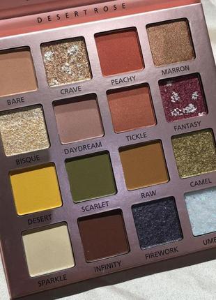 😇🎨суперпигментированная палетка теней для век beauty glazed dessert rose 16 colors eyeshadow palette matte а9 фото