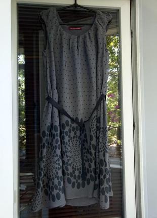 Нежное платье в горошек