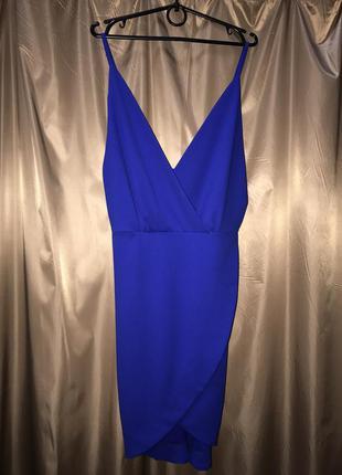 Платье вечернее синий электрик