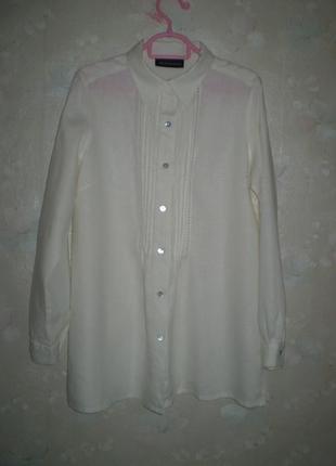 Женская льняная рубашка artigiano m 46р. лен, состояние новой