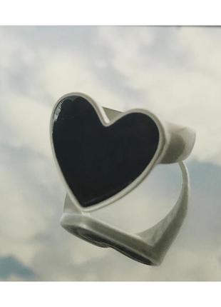 Кольцо сердечко 🖤