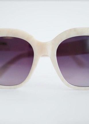 Солнечные очки в оправе из ацетата с перламутровым узором5 фото