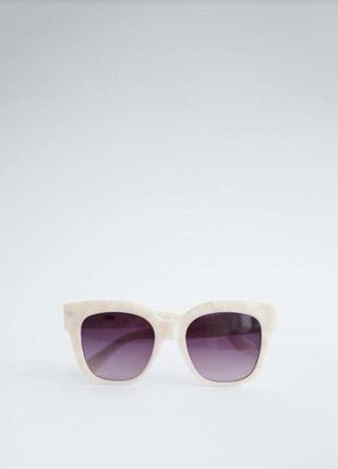 Солнечные очки в оправе из ацетата с перламутровым узором6 фото