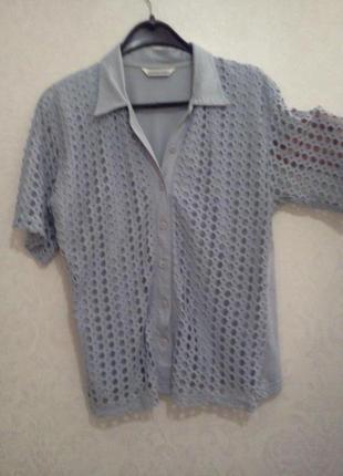 Sale! носите натуральное!стильные брендовые блуза-италия, футболки,легенькая рубашка m&s