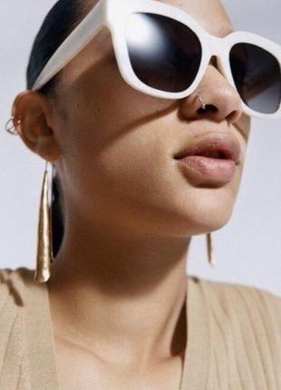 Солнечные очки в оправе из ацетата с перламутровым узором zara