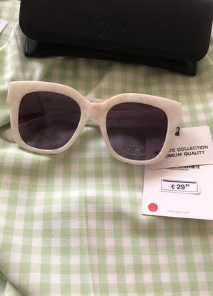 Солнечные очки в оправе из ацетата с перламутровым узором zara2 фото