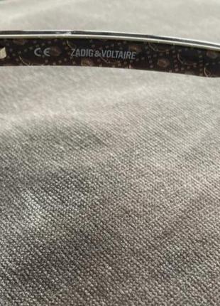 Очки оправа нулёвки имиджевая zadig&voltaire3 фото