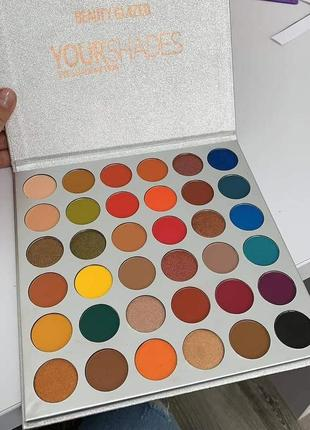 🌈🤯самая яркая палетка теней beauty glazed your shades eyeshadow palette7 фото