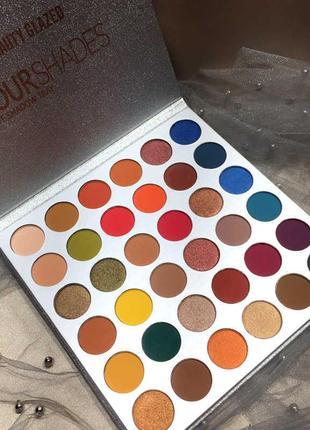 🌈🤯самая яркая палетка теней beauty glazed your shades eyeshadow palette4 фото