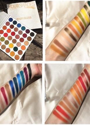 🌈🤯самая яркая палетка теней beauty glazed your shades eyeshadow palette2 фото