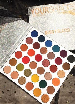 🌈🤯самая яркая палетка теней beauty glazed your shades eyeshadow palette1 фото