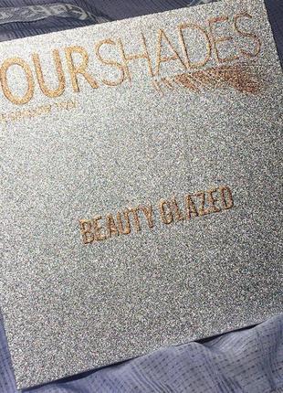 🌈🤯самая яркая палетка теней beauty glazed your shades eyeshadow palette5 фото