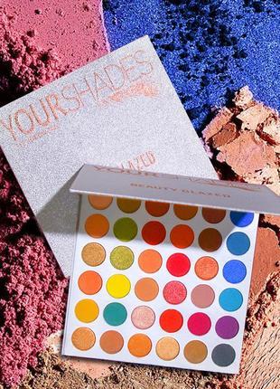 🌈🤯самая яркая палетка теней beauty glazed your shades eyeshadow palette8 фото