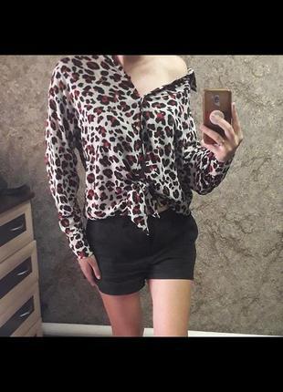 Трендовая рубашка  трендовая блуза блузка блуза рубашка блузка в принт