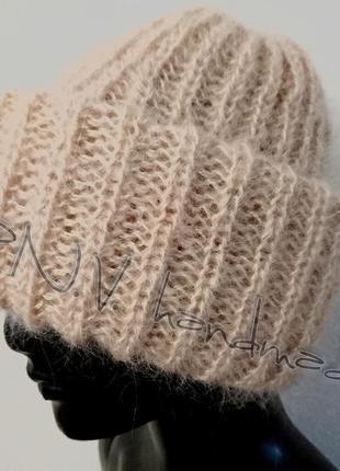 Зимняя шапка популярная модель тыковка
