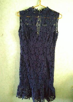 Платье кружево на подкладке