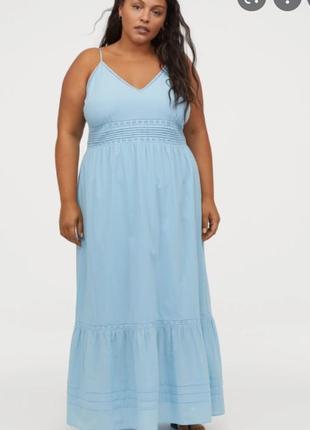 Новое хлопковое платье, сарафан h&m, большой размер, батал. размер 4xl
