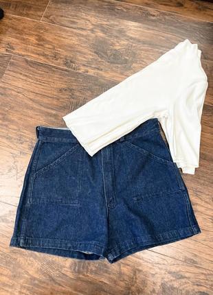 Шорты джинсовые винтаж вінтажні високие вінтаж