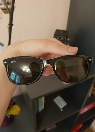 Ray ban окуляри унісекс + шкіряний чохол +  мікрофібра для догляду
