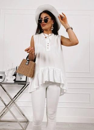 Женская блуза, нарядная блуза, белая блуза