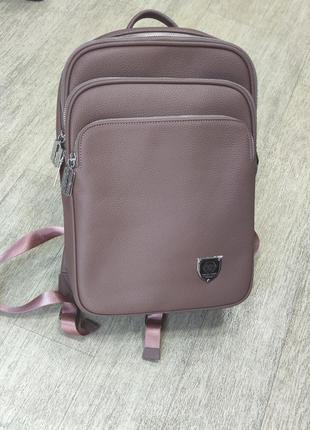 Рюкзак брендовий унісекс в кольорах рожевий