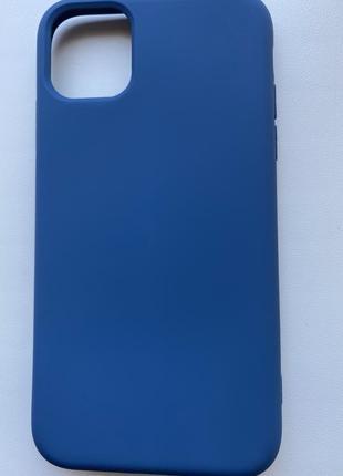 Чохол на 11 айфон, синій чохол, силіконовий чохол, чехол на айфон 11.