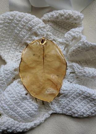Кулон листик винтажный