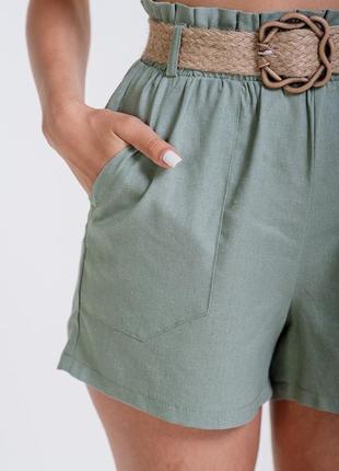 Новые шорты с плетёным поясом