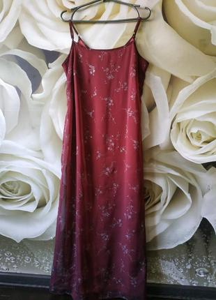 Воздушное красивое макси платье в цветочный принт