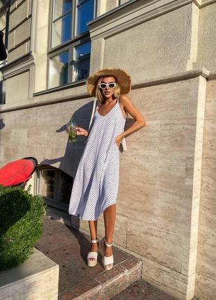 Летнее платье на брительки платье в горох свободное платье для беременных