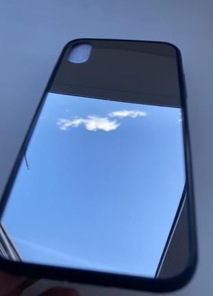 Зеркальный силиконовый чехол на айфон iphone xr серебро. силиконовый чехол на айфон xr.