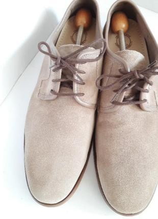 Туфли замшевые clarks p.44(8 1/2)