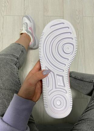 Nike air force shadow pink grey кроссовки найк женские форсы аир форс кеды обувь взуття5 фото