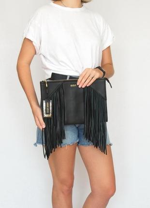 Кожаная сумка, клатч, biba, натуральная кожа.