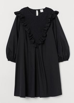 Скидка до 2.08.! платье с рукавом пуфер хлопок, новое/м/ h&m
