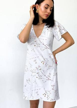 Акция платье белое короткое.