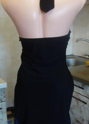 Платье черно-синее размер s эластическое