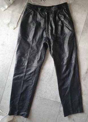 Брюки штани слоучи натуральна шкіра