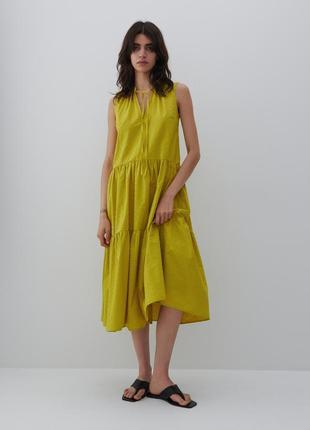 Reserved шикарное хлопковое ярксное платье