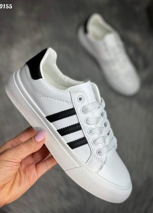 Кеды adidas белые 0155