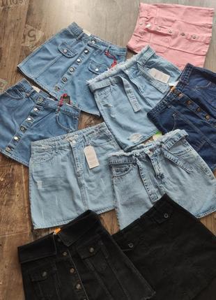 ‼️ распродажа остатков ‼️ джинсовые юбки