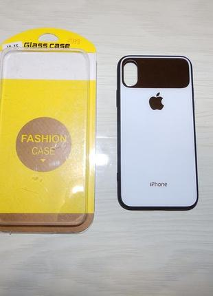 Чехол mirror tempered glass phone case for iphone xs