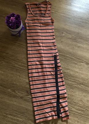 Шикарное повседневное платье миди