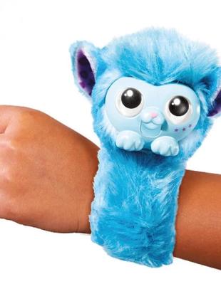 Интерактивная обезьянка на руку wrapples синяя