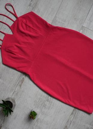 Платье цвета фуксия на брительках primark размер 14, м