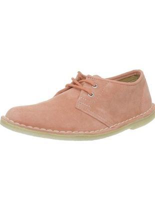 Стильні замшеві рожеві черевички clarks