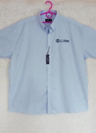 Голубая рубашка большого размера
