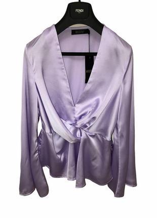 Шелковая блуза кроя кимоно