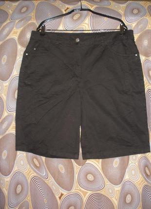 Длинные шорты черного цвета brandtex denmark хлопок высокая талия посадка
