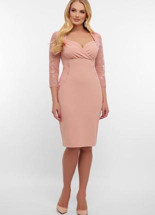 Красивое лиловое платье